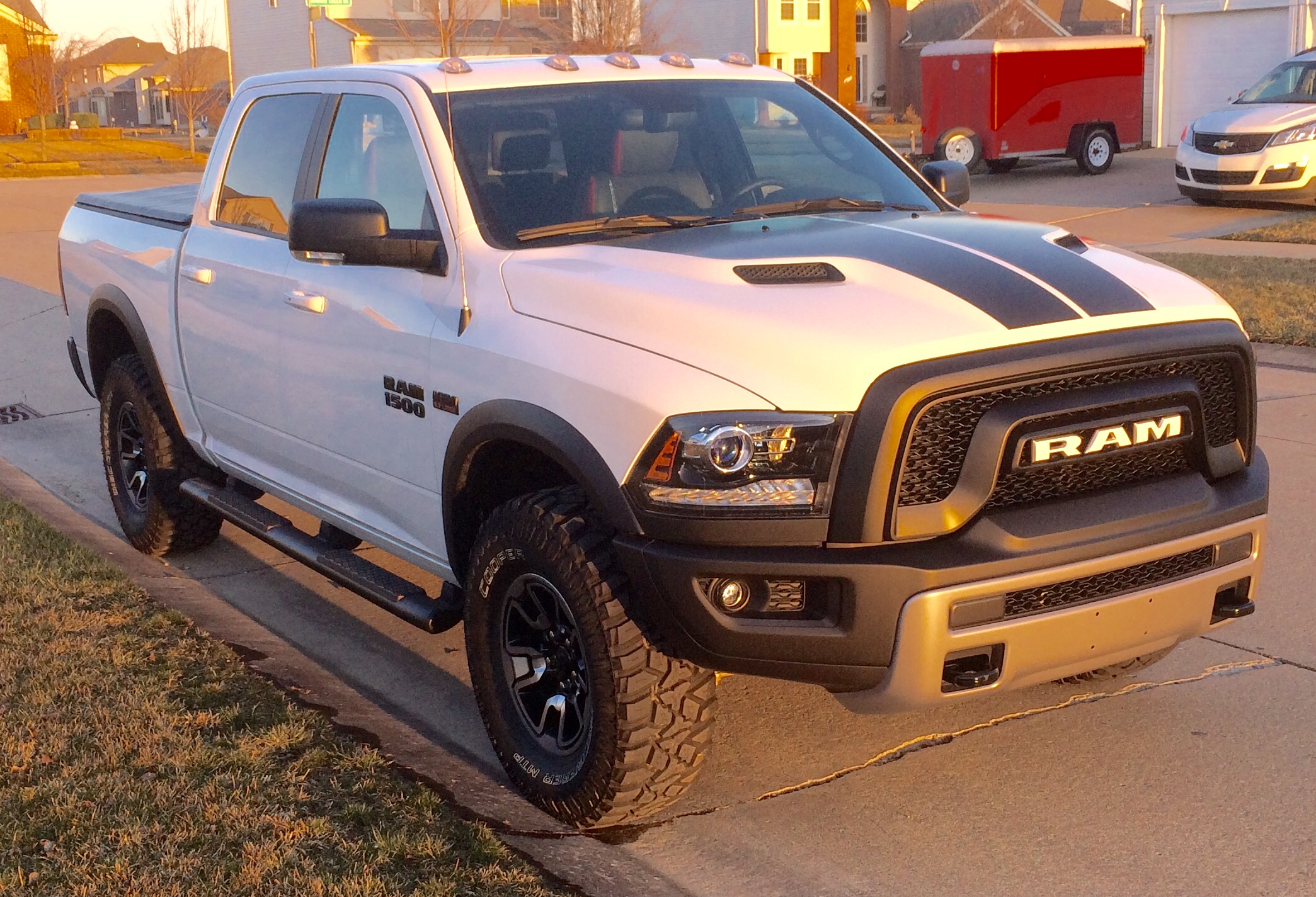 Anyone Fit 35s Without Links Or Lift Ram Rebel Forum Dodge 1500 Toyo At2 3 Front Grille Lettering 2
