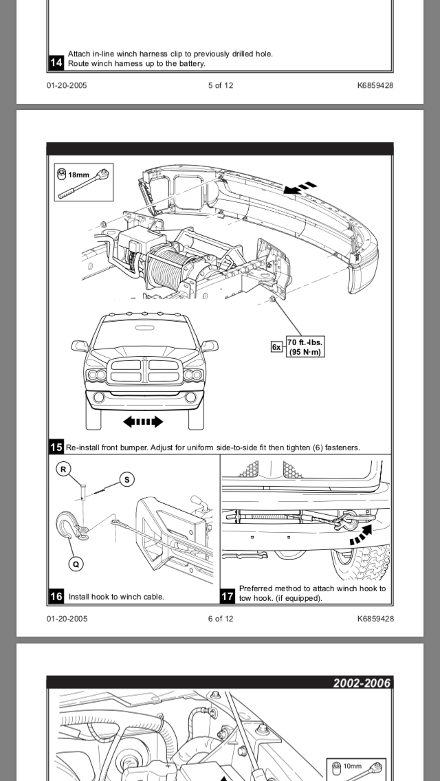 Power Wagon Warn Winch Install | Ram Rebel Forum on